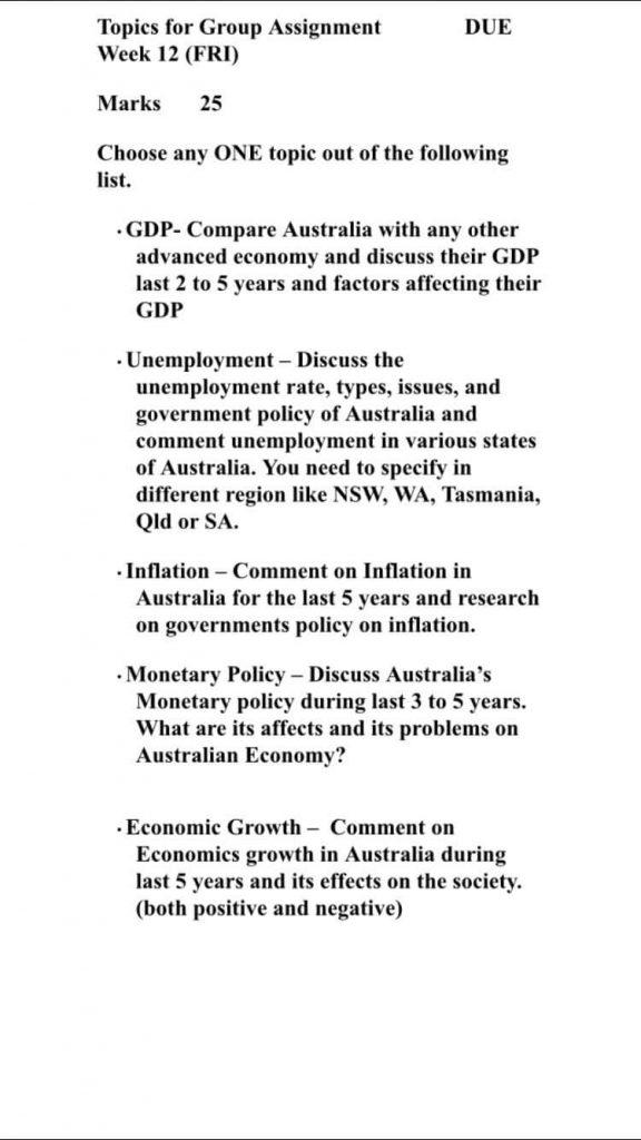 Write my assignment australia
